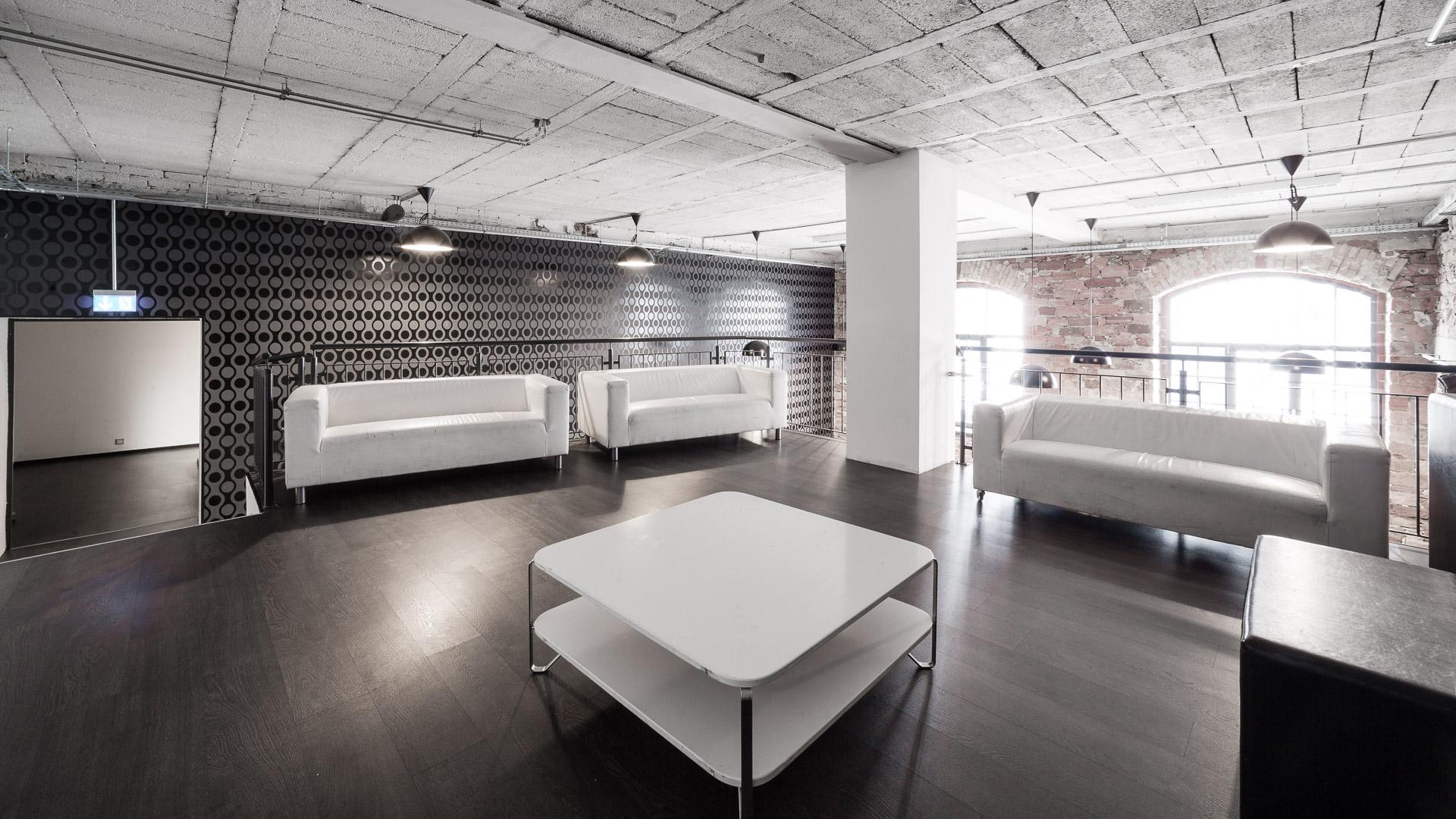 Stylische Eventräume Karlsruhe mit Backstein Charme, Bar& Lounge